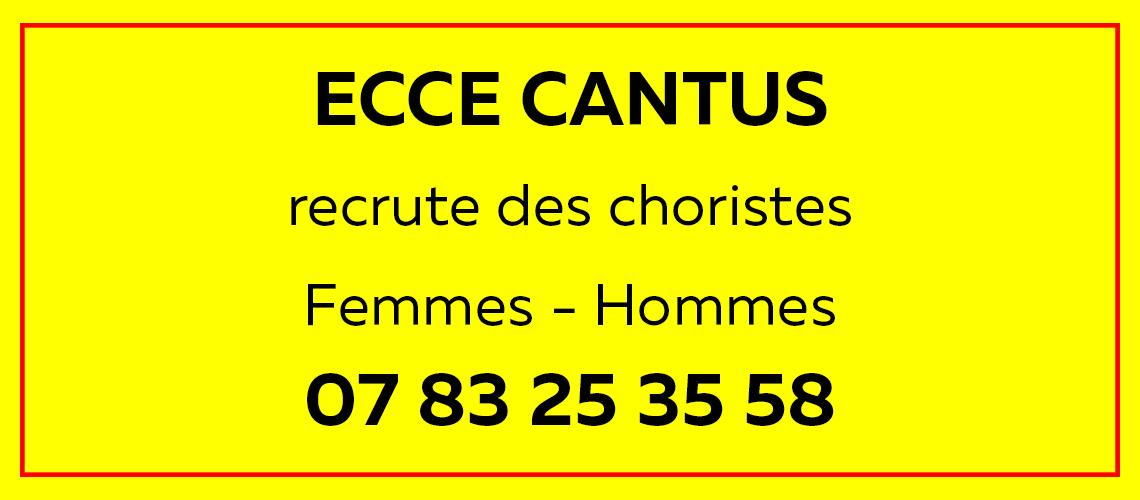 Recrutement Ecce Cantus